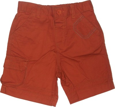 Red Rose Woven Boy's Brown Chino Shorts