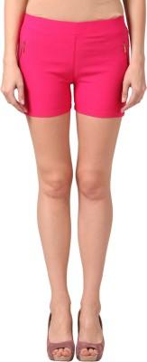 Pretty Angel Solid Women's Pink Basic Shorts