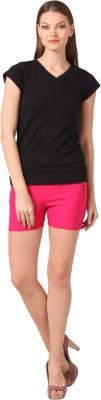 Vostro Moda Solid Women's Pink Basic Shorts