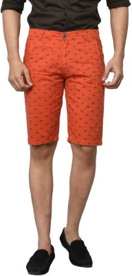 Clickroo Printed Men's Red Chino Shorts