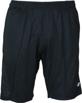 Nivia Solid Men & Women Black Sports Shorts at flipkart