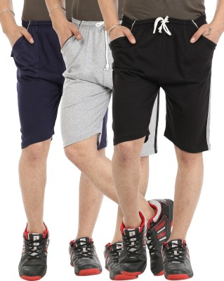 Gumber Solid Men's Multicolor Basic Shorts