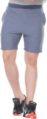 TAB91 Striped Men's Blue Basic Shorts