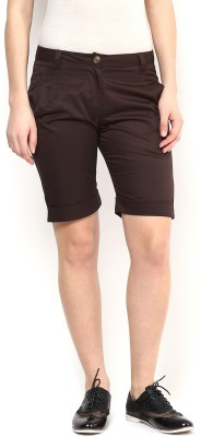 Martini Solid Women's Brown Hotpants