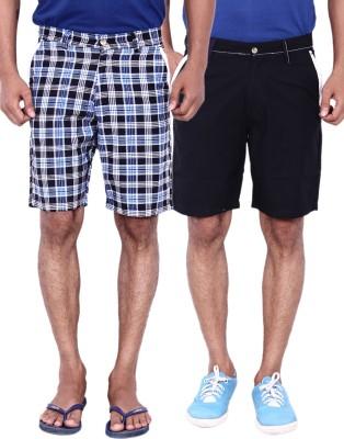 Calloway Checkered Men's Black, Grey Basic Shorts