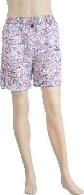 Karwan International Printed Men's Purple Sports Shorts
