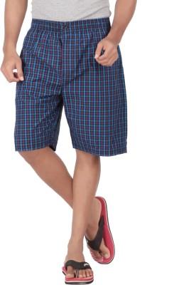 Parade Checkered Men,s Blue, Purple Bermuda Shorts