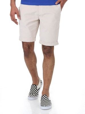 Shapes Solid Men's Beige Chino Shorts