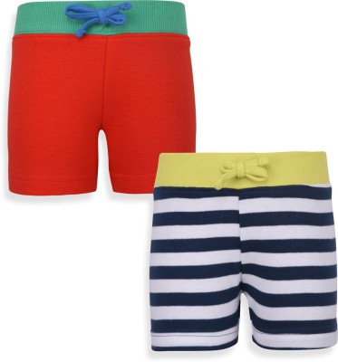 Mothercare Solid Baby Boy's White, Blue, Red Night Shorts
