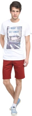 Colors Couture Solid Men's Maroon Chino Shorts