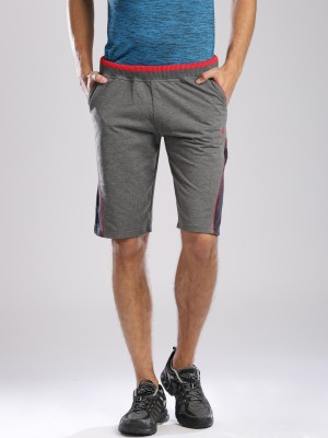 HRX by Hrithik Roshan Solid Men's Grey Basic Shorts
