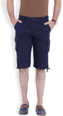 Skie Studio Solid Men's Dark Blue Chino Shorts