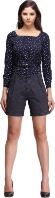 Nineteen Printed Women's Blue Basic Shorts