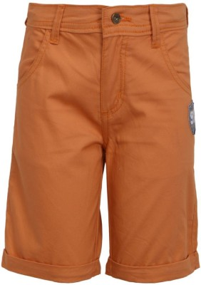 Bells and Whistles Solid Boy's Orange Basic Shorts