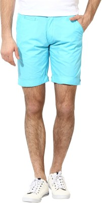 Silver Streak Solid Men,s Light Blue Basic Shorts