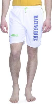 ALIGATORR Solid Men's White Gym Shorts