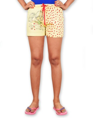 Riot Jeans Printed Women's Yellow Boxer Shorts
