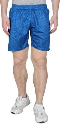 Creez Printed Men's Dark Blue Sports Shorts