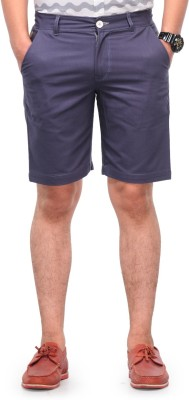 Haute Couture Solid Men,s Grey Chino Shorts