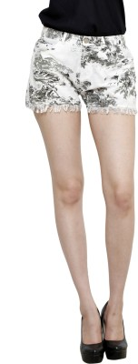 I Am For You Printed Women's Beige Basic Shorts
