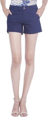 Globus Solid Women's Dark Blue Basic Shorts