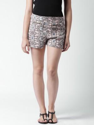 Mast & Harbour Printed Women's Multicolor Basic Shorts at flipkart