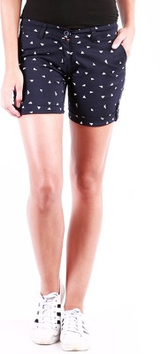 Change360° Printed Women's Blue Basic Shorts