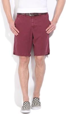 WROGN Men's Maroon Shorts