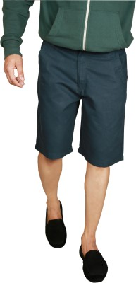 You Checkered Men's Green Basic Shorts
