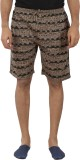 Tantra Printed Men's Brown Basic Shorts