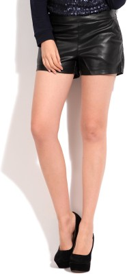 Only Solid Women's Black Shorts at flipkart