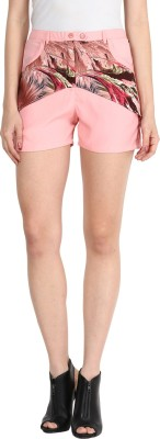 Athena Printed Women's Pink Basic Shorts at flipkart