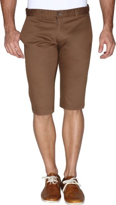 Sniper Solid Men's Brown Chino Shorts