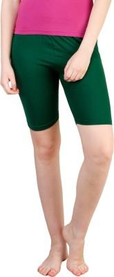 Rham Solid Women's Dark Green Basic Shorts