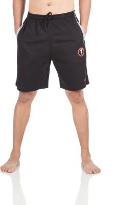 Vip Solid Men,s Black Bermuda Shorts