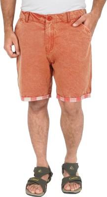 Cub Solid Men's Red Bermuda Shorts