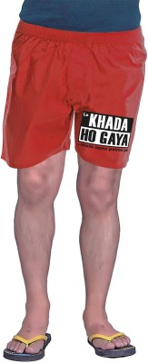 Wear Your Opinion Printed Men's Red Boxer Shorts