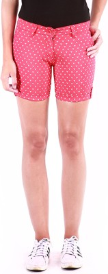 Change360° Printed Women's Red Basic Shorts