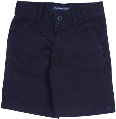 Allen Solly Solid Boy's Blue Chino Shorts