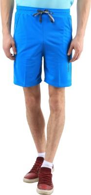 SPAWN Solid Men's Light Blue Basic Shorts