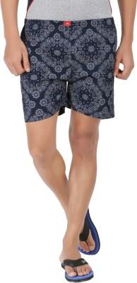 AG Printed Men's Dark Blue, White Basic Shorts