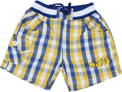 Romano Checkered Baby Boy's Multicolor Basic Shorts