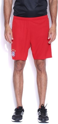 Adidas Solid Men's Red Gym Shorts