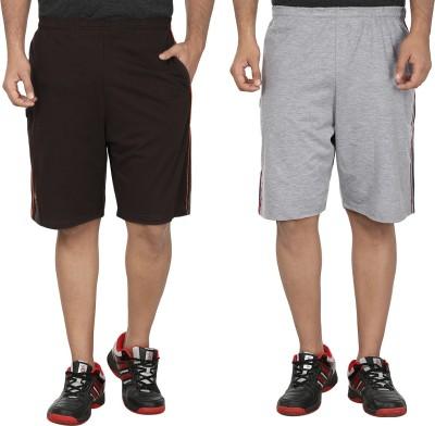 SST Solid Men's Brown Basic Shorts