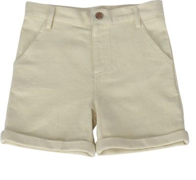 Nino Bambino Solid Boy's Yellow Basic Shorts