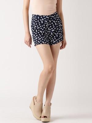 Dressberry Printed Women's Dark Blue Basic Shorts