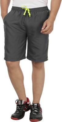 SPAWN Solid Men's Grey Sports Shorts