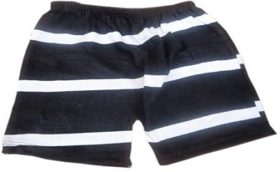 DCS Striped Boy's Black, White Basic Shorts
