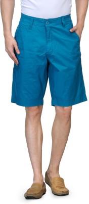 Global Nomad Solid Men's Blue Basic Shorts