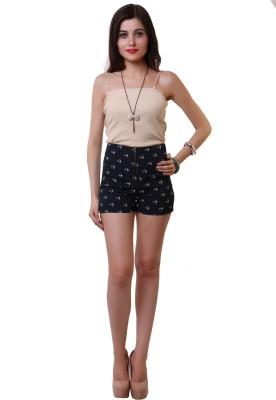 Belle Fille Printed Women,s Blue Basic Shorts